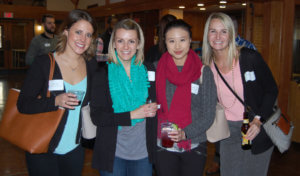 genYP members smile at a genYP kickoff event.