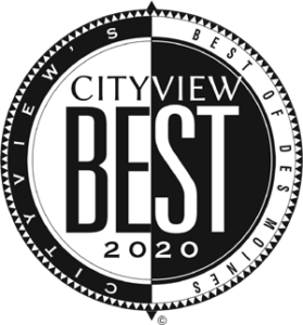 Cityview's best of Des Moines 2020 award logo